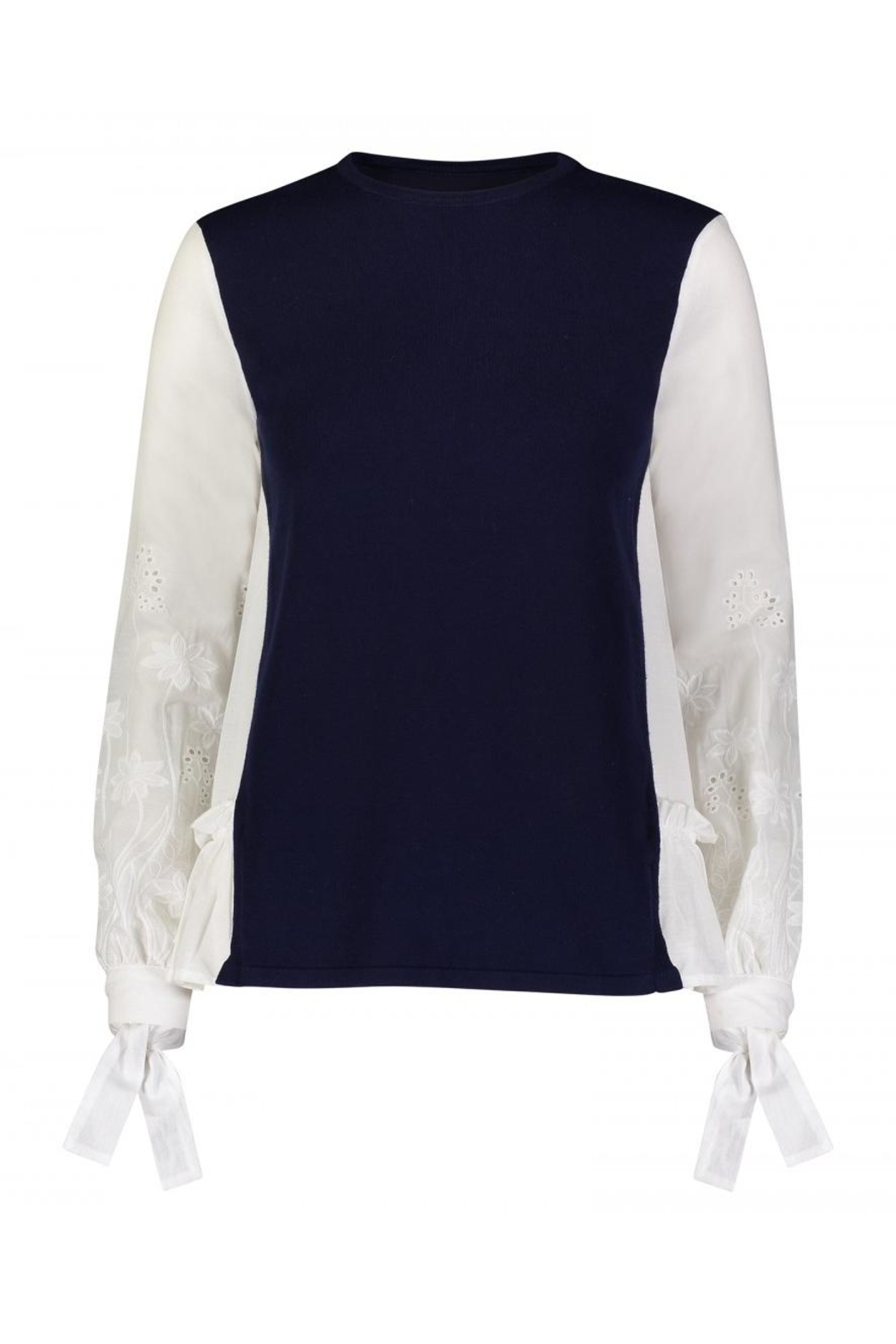 Yal NY Bow Embroidered Sleeve - Front Cropped Image