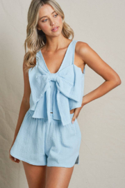 Maronie  Bow Front Crop Top - Front cropped