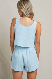 Maronie  Bow Front Crop Top - Other