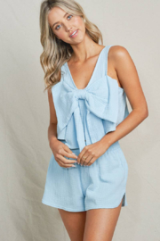 Maronie  Bow Front Crop Top - Side cropped