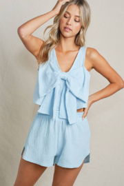 Maronie  Bow Front Crop Top - Back cropped