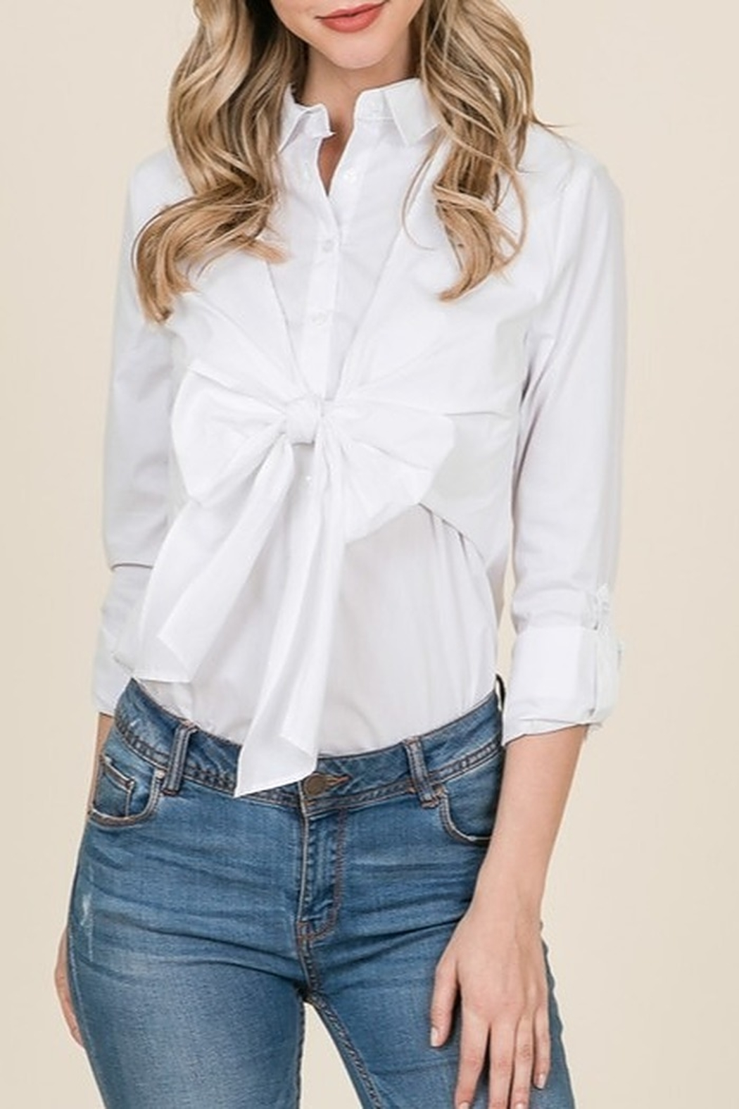 Lumiere Bow Front Shirt - Main Image