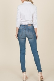 Lumiere Bow Front Shirt - Back cropped