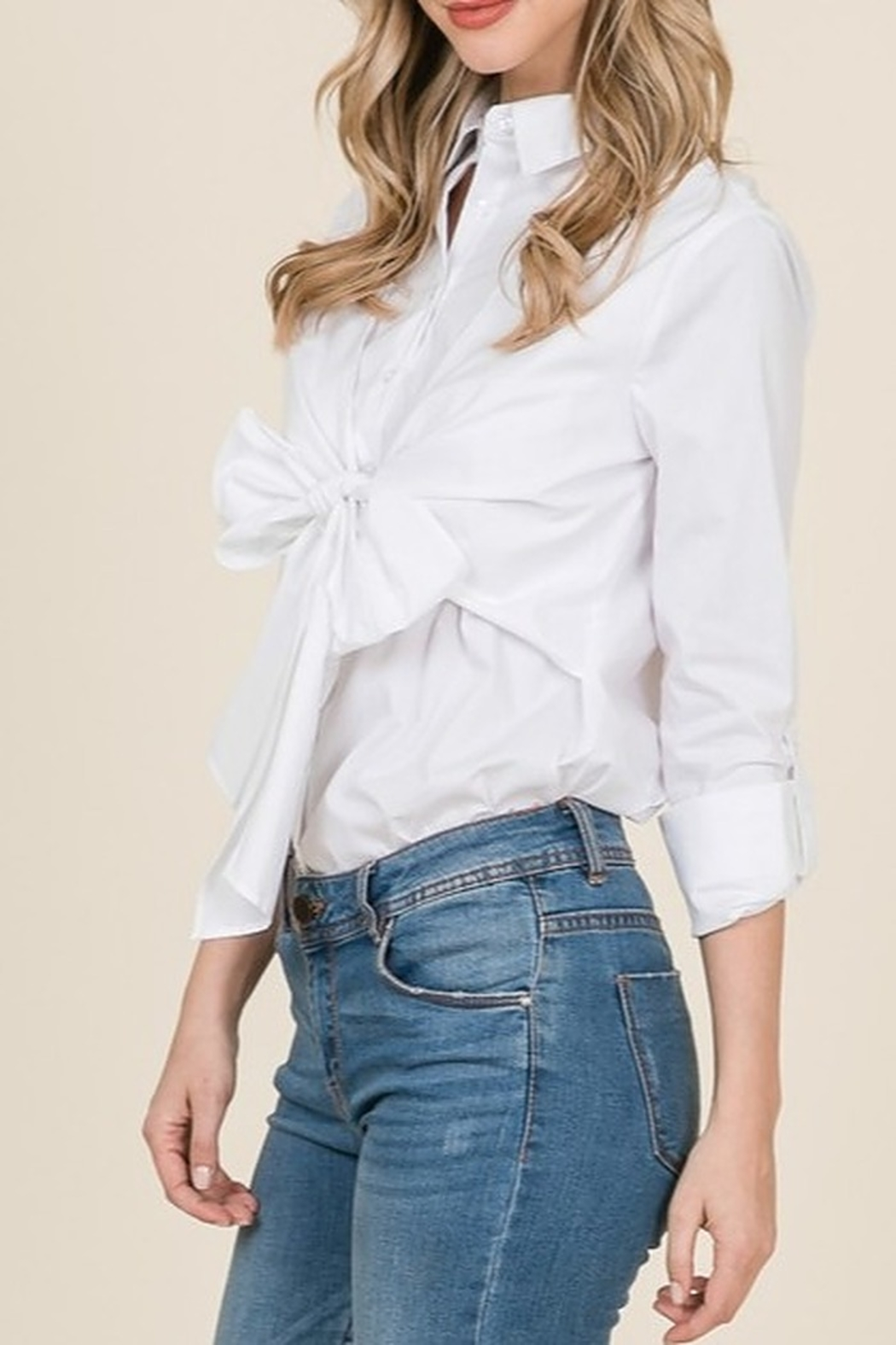 Lumiere Bow Front Shirt - Front Full Image