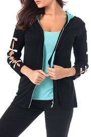 Angel Apparel Bow Hooded-Zip Cardigan - Product Mini Image