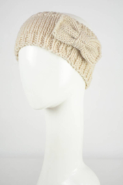 Leto Accessories Bow Knit Headband - Front cropped