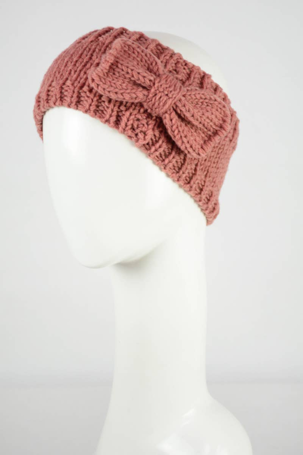 Leto Accessories Bow Knit Headband - Front Cropped Image