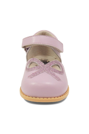 Livie & Luca Bow Lavender Mary Jane Youth - Side cropped