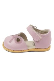 Livie & Luca Bow Lavender Mary Jane Youth - Front full body