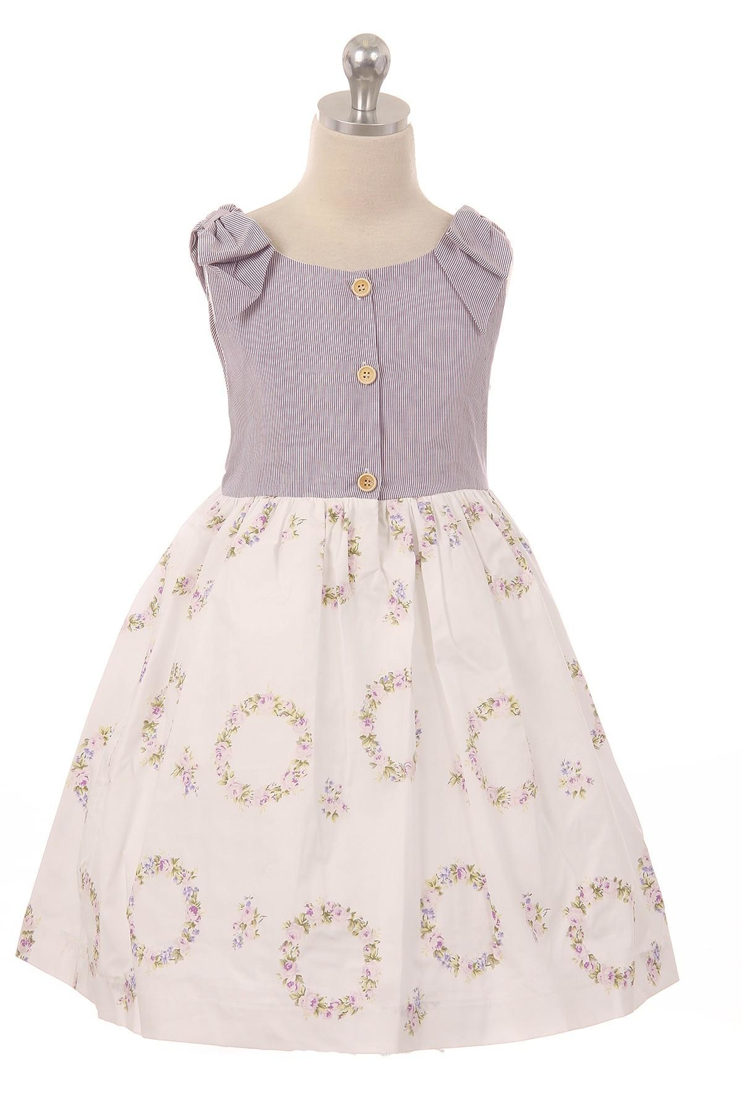 Kid's Dream Bow Shoulder Dress - Front Cropped Image