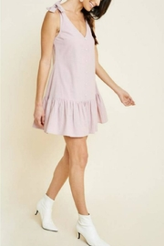Hayden Los Angeles Bow-Strap Button Dress - Product Mini Image