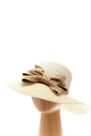 Wona Trading Bow Straw Sun-Hat - Front cropped