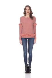 sisters Bow Trimmed Sweater - Product Mini Image