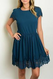 Bow And Arrows Teal Lace Trim Dress - Product Mini Image