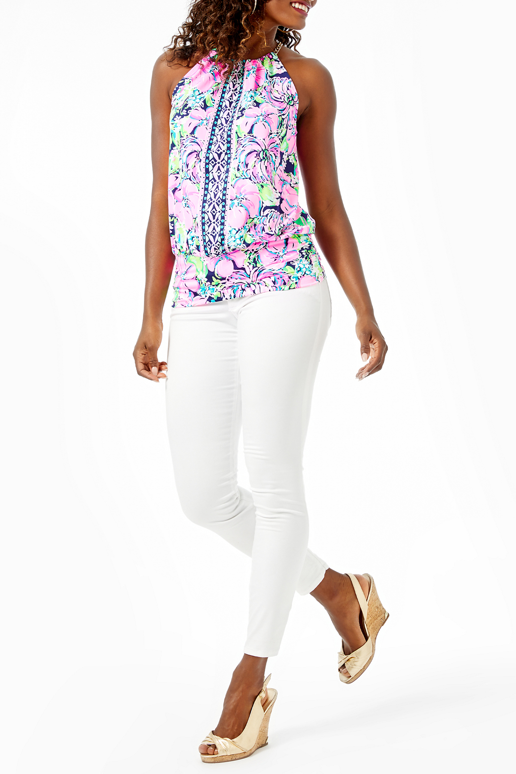 Lilly Pulitzer  Bowen Top - Back Cropped Image