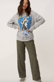 Daydreamer Bowie Serious Moonlight Sweatshirt - Front cropped