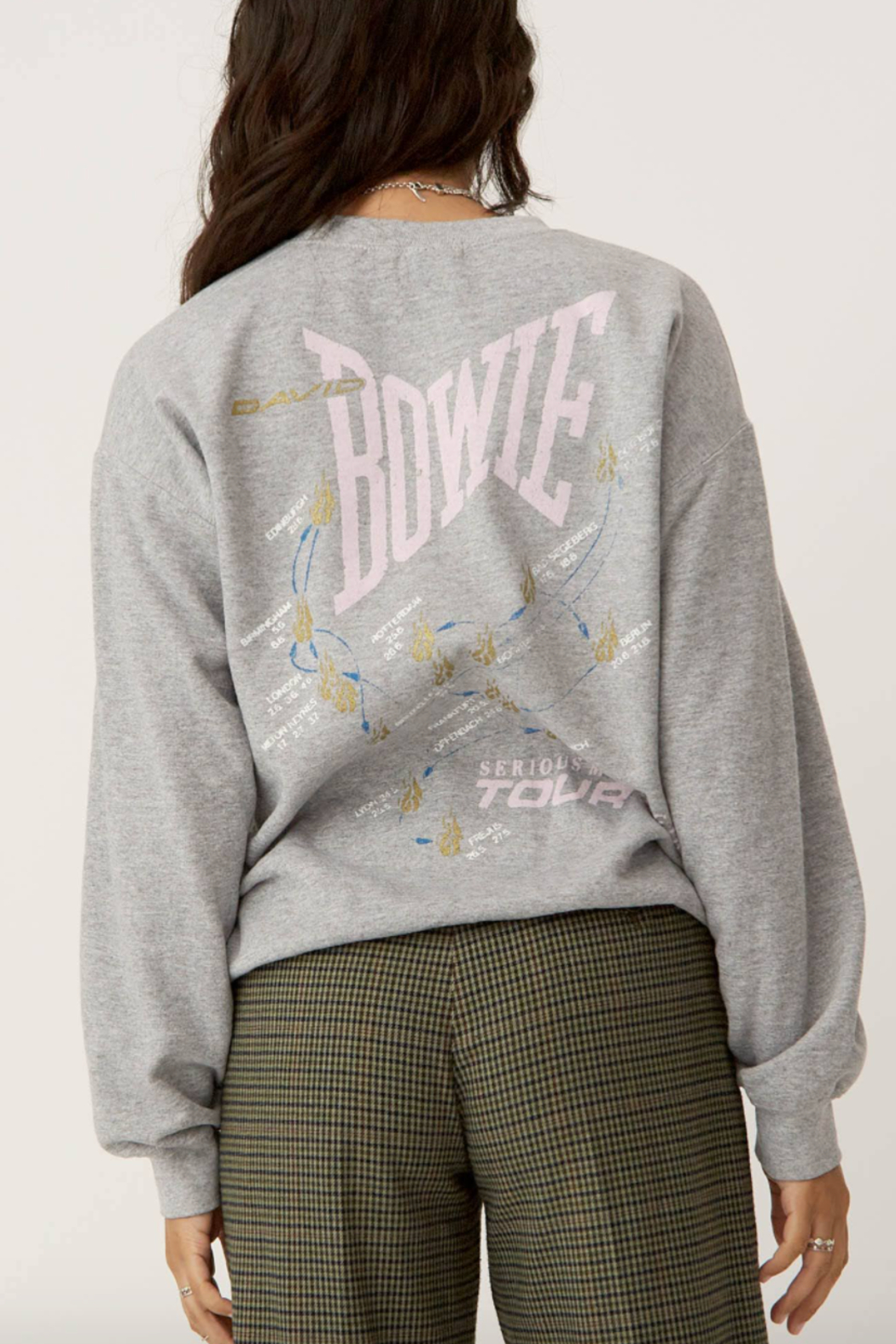Daydreamer Bowie Serious Moonlight Sweatshirt - Side Cropped Image