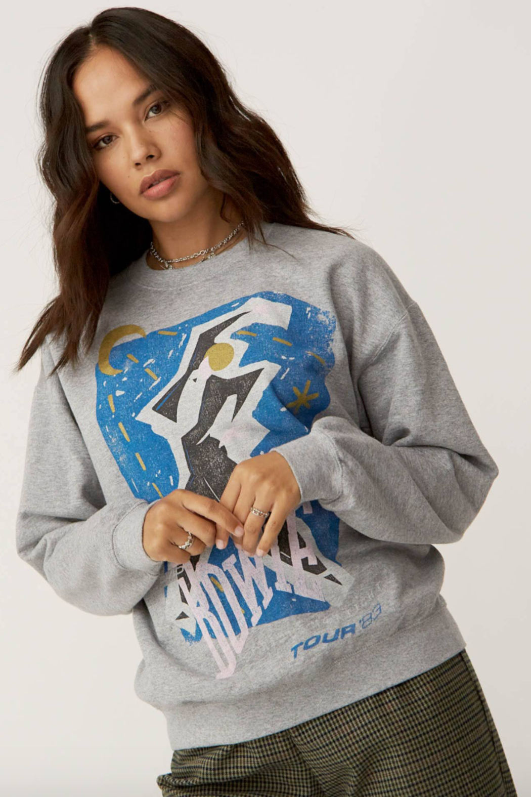 Daydreamer Bowie Serious Moonlight Sweatshirt - Front Full Image