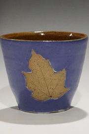 stoneware Bowl with Leaves - Product Mini Image