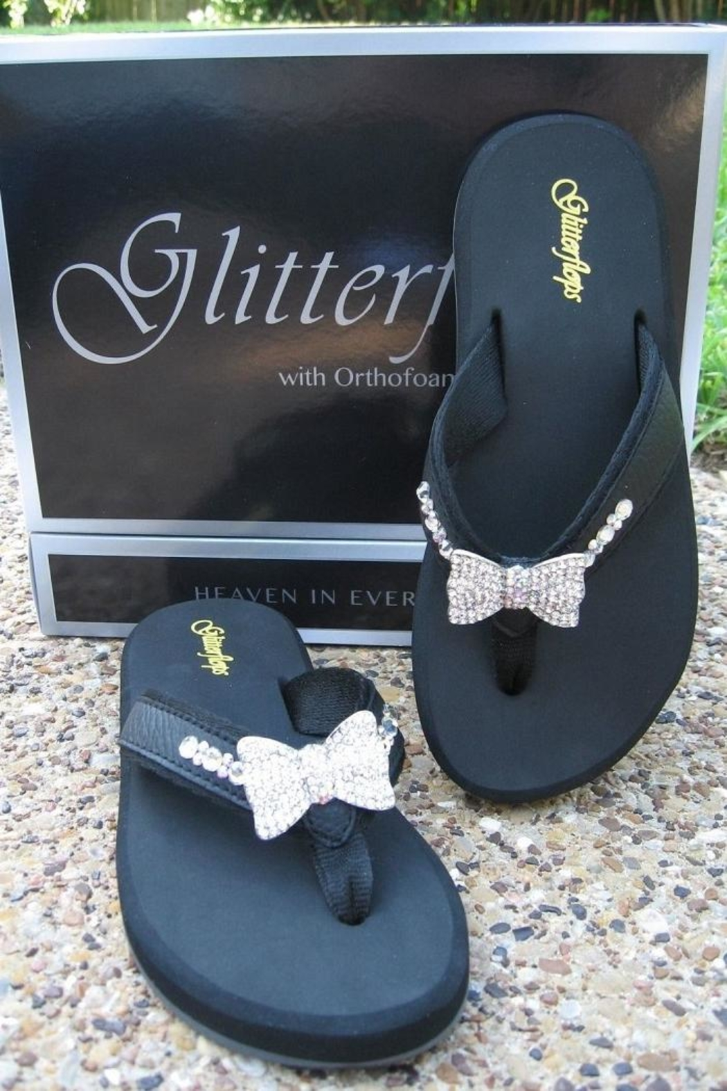 f4c988403 Glitterflops Bowtie Crystals Flipflops from Texas by Rock2Royal ...