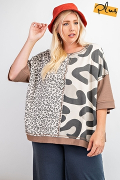 Easel  Box Leopard Tunic - Product List Image