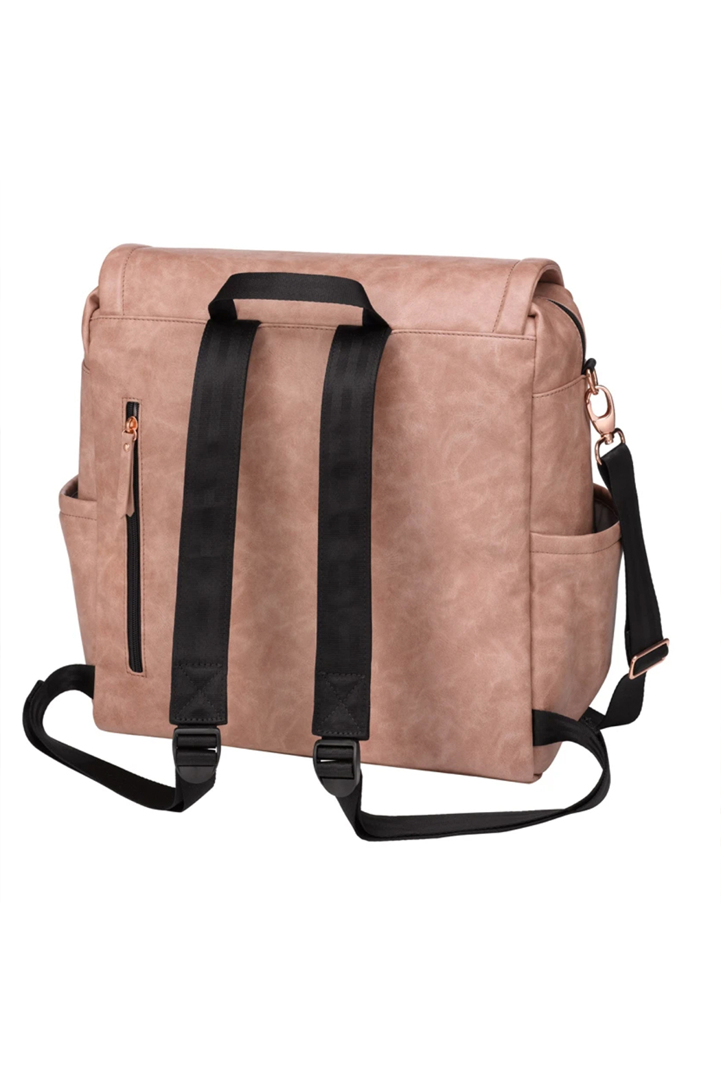 Petunia Pickle Bottom Boxy Backpack - Dusy Rose Leatherette - Side Cropped Image