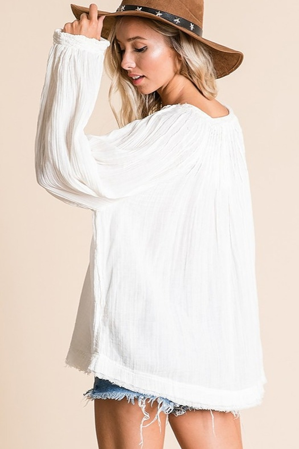 Ces Femme  Boxy Blouse Top - Side Cropped Image
