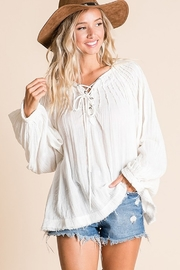 Ces Femme  Boxy Blouse Top - Front cropped