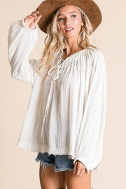 Ces Femme  Boxy Blouse Top - Front full body