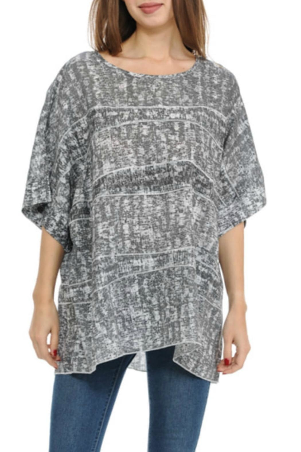 Cubism Boxy Burnout Top - Front Cropped Image