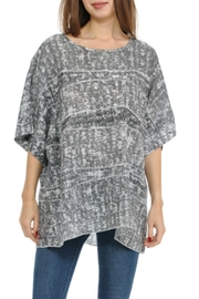 Cubism Boxy Burnout Top - Front cropped