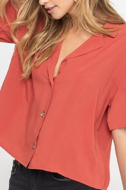 Lush Clothing  Boxy Button-Down Top - Front full body