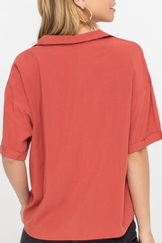 Lush Clothing  Boxy Button-Down Top - Side cropped