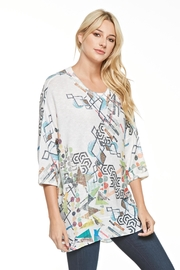 Inoah Boxy Geometric Tunic - Product Mini Image