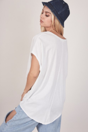 Mustard Seed  Boxy Knit Tee - Front full body