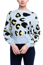 Wild Honey Boxy Leopard Sweater - Front cropped
