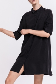 Grey Boxy Shirt Dress - Product Mini Image