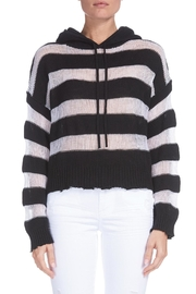 Elan Boxy Striped Hoodie-Sweater - Product Mini Image