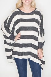 Cherish Boxy Striped Top - Product Mini Image
