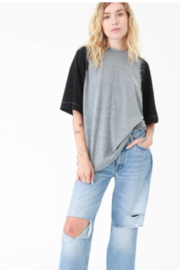 Electric Rose Boy Friend Dip Dyed Tee - Back cropped