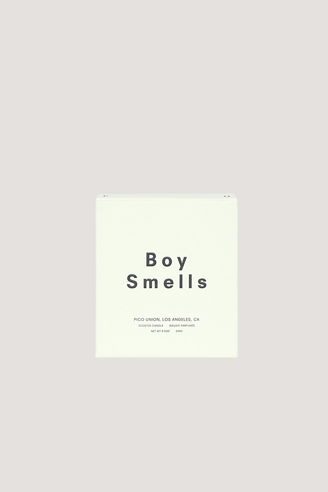 Boy Smells Ambrosia Candle - Front Full Image