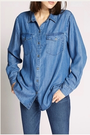 Sanctuary Boyfriend Denim Top - Product Mini Image