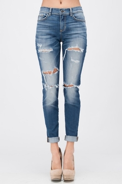 Sneak Peek Boyfriend Distressed Jeans - Alternate List Image