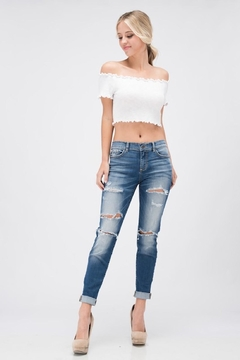 Sneak Peek Boyfriend Distressed Jeans - Product List Image