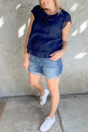 Silver Jeans Co. Boyfriend Short with Rolled Cuff - Product Mini Image