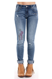 Rock & Roll Cowgirl Boyfriend Skinny Jean - Product Mini Image