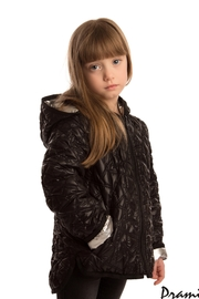 PRAMIE KIDS HOODED QUILTED JACKET | UNISEX | REVERSIBLE - Front cropped