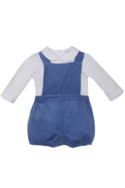 Remember Nguyen Boys Blue Corduroy Short Set - Front cropped