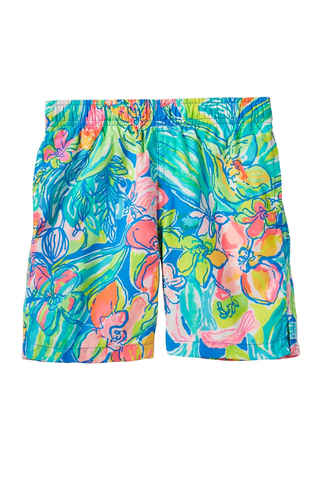 Lilly Pulitzer Boys Capri Swim-Trunk - Front Cropped Image