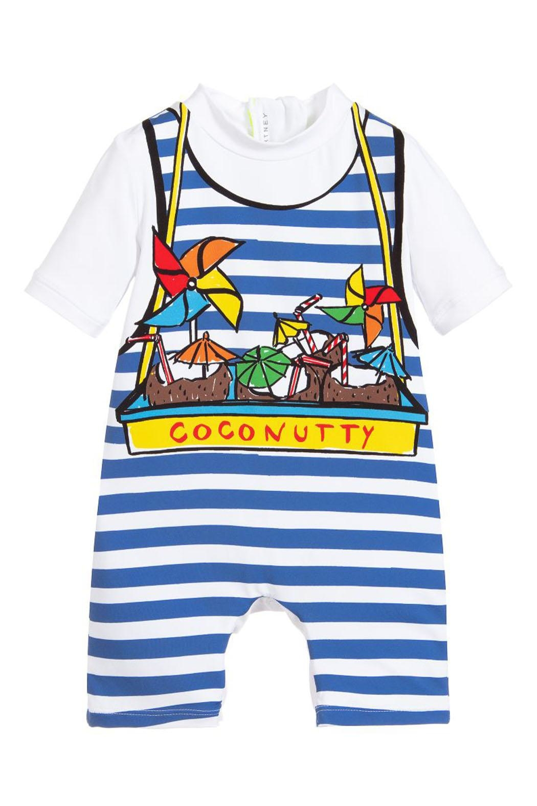 Stella McCartney Kids Boys 'Coconutty' Swimsuit - Front Cropped Image